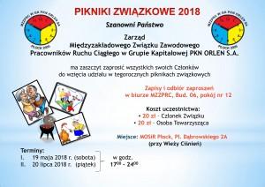 Ogłoszenie o piknikach 2018-1